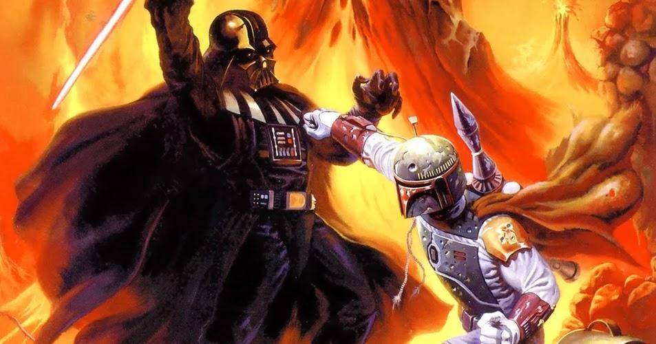 Darth Vader se enfrentó a Boba Fett en un combate de sables de luz