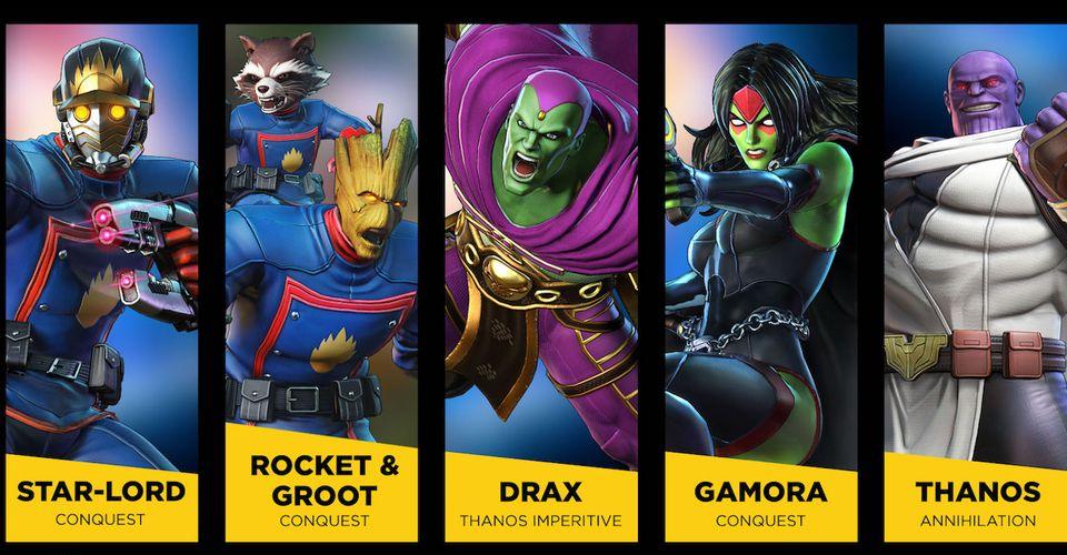 Marvel Ultimate Alliance 3 anuncia skins gratuitos para los guardianes