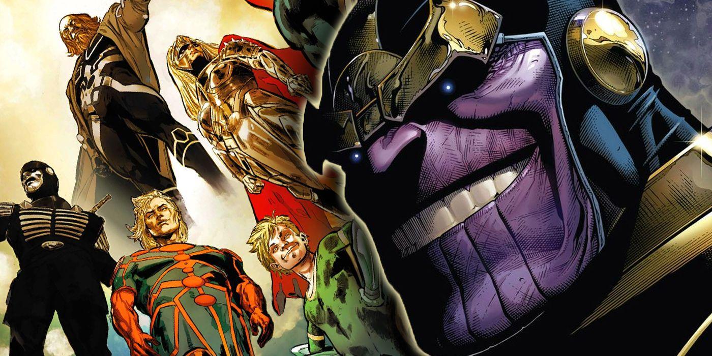 Cómo Thanos y los Titanes están conectados a los alienígenas de MCU